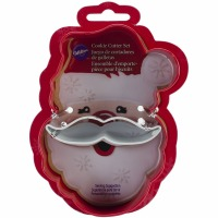 Cookie Cutter Santa Face 2PC