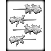 Cowboy & Indian Lolli Mold (4)