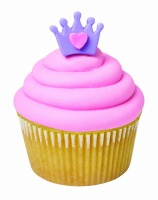 Crown with Heart Royal Icing Decoration