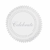 Standard Baking Cups Celebrate Silver 75 CT