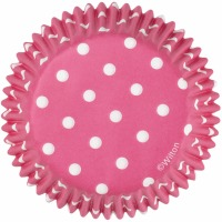 Standard Baking Cups Pink Dots 75 CT