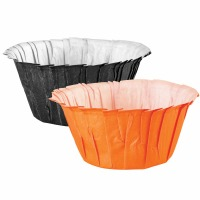 Baking Cups Cup Standard Ruffle Black and Orange 24CT