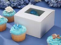 "Cupcake Box 6"" X 6"" X 3.5"" 4CT"