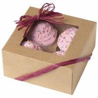 Cupcake Box Kraft 3 CT