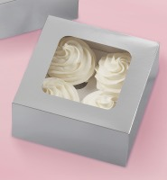 Cupcake Box Silver 4 CAV 3 CT