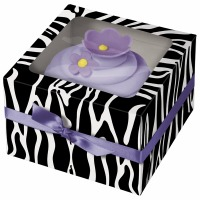 Cupcake Box Zebra 3 CT