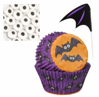 Cupcake Decoration Kit  Bat 12 CT
