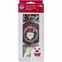 Cupcake Dec. Kit Santa 24CT