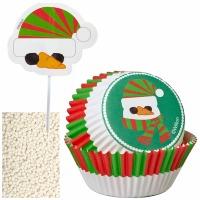 Cupcake Dec Kit Snowman 24 CT