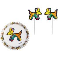 Cupcake Kit Balloon Dogs 24CT