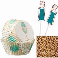 Cupcake Kit Champagne 48 CT