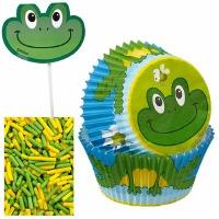 Cupcake Kit Frog 12 CT