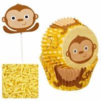 Cupcake Kit Monkey 12 CT