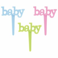 Baby 12 Count Cupcake Picks