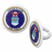 Cupcake Rings Cake Topper United States Air Force