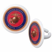 Cupcake Rings Cake Topper United States Marine Corps