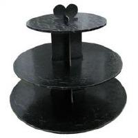 Cupcake Stand 3Tier RND Black