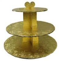 Cupcake Stand 3Tier RND Gold