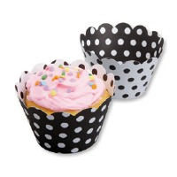 Cupcake Wrap Black White 50 CT