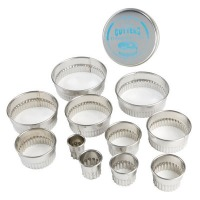 Fluted Round Cutters Set of 11