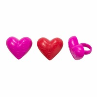 Deco Rings Scroll Heart 12 CT