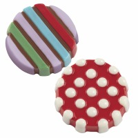 Dot Stripes Cookie Candy Mold