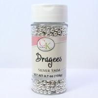 DRAGEE 5 MM SILVER-3.7OZ