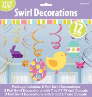 Easter Swirl Decorations Value PK