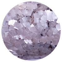 Edible Glitter Square Silver 1/4 oz