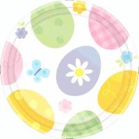 "Eggstravaganza 7"" Plates 12 CT"