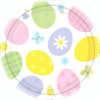 "Eggstravaganza 9"" Plates 12 CT"