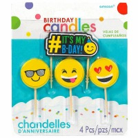Emoji Candles Set of 4