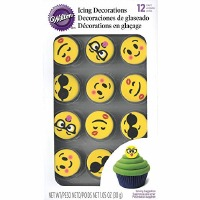 Emoji Royal Icing Deco 12 CT