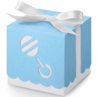 Favor Boxes Blue Rattle