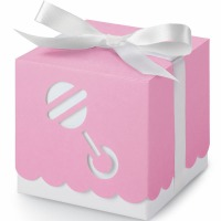Favor Boxes Pink Rattle