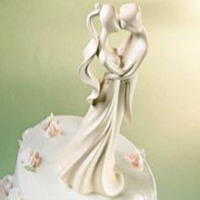 First Kiss Cake Topper