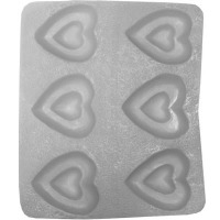 "Flex Mold 1-1/8"" Heart (6)"