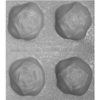 "Flex Mold 1-3/8"" Rose (4)"