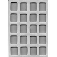 "Flex Mold 1-3/8"" Square Mint (16)"