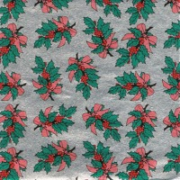 """Foil Wrapper 3""""X3"""" Holly Bough 1000 CT"""