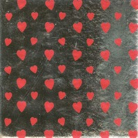 "Foil Wrapper 3""X3"" Silver Heart 125 CT"