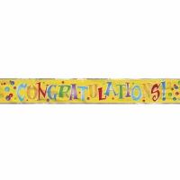 Foil Banner Congratulations