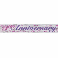 Foil Banner Happy Anniversary