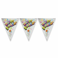 Foli Happy Birthday Flag Banner
