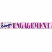 Foil Banner Happy Engagement