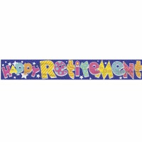 Foil Banner Happy Retirement