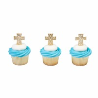 Gold Cross Cupcake Pic