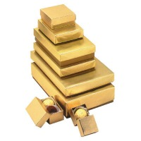 Gold Foil Wrapped Box 4-PC