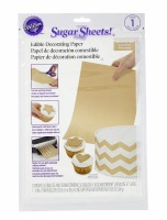 Gold Shimmer Sugar Sheet