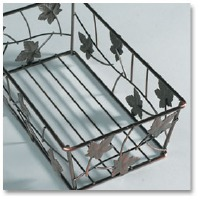 Guest Towel Basket Bronze Leaf